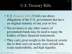 u s treasury bills