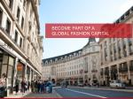 become part of a global fashion capital