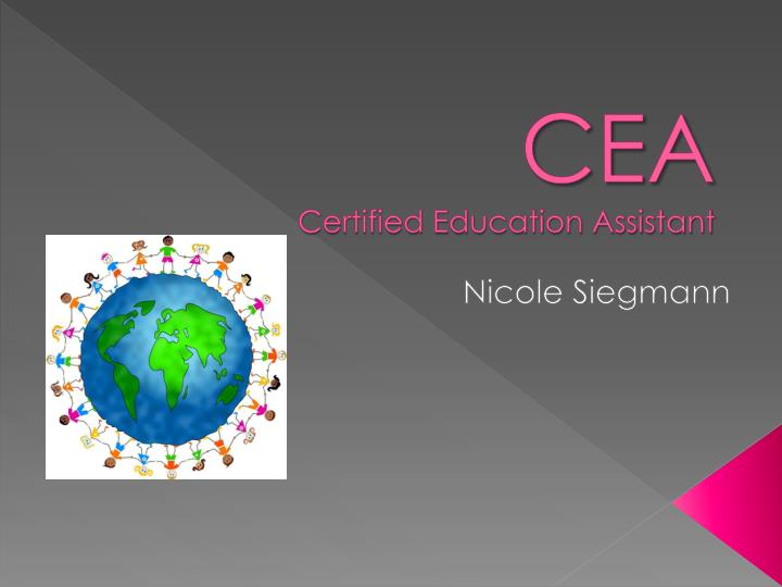 cea certified education assistant n.