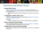summary and default route1