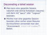 disconneting a telnet session