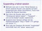 suspending a telnet session
