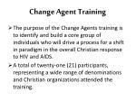 change agent training