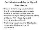 church leaders workshop on stigma discrimination