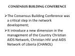 consensus building conference