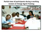 partial view of participants during a working session at change agent training