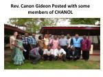 rev canon gideon posted with some members of chanol