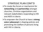 strategic plan cont d