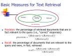 basic measures for text retrieval