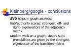 kleinberg google conclusions