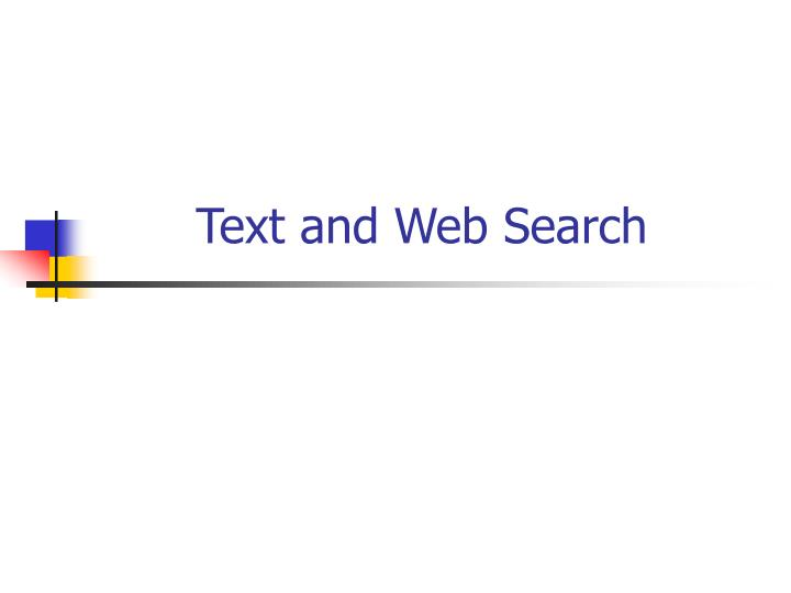 text and web search n.