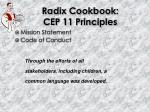 radix cookbook cep 11 principles