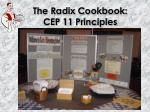 the radix cookbook cep 11 principles