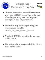 configuring maximum array size