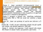 classificazione delle sorgenti laser secondo la norma cei 76 2