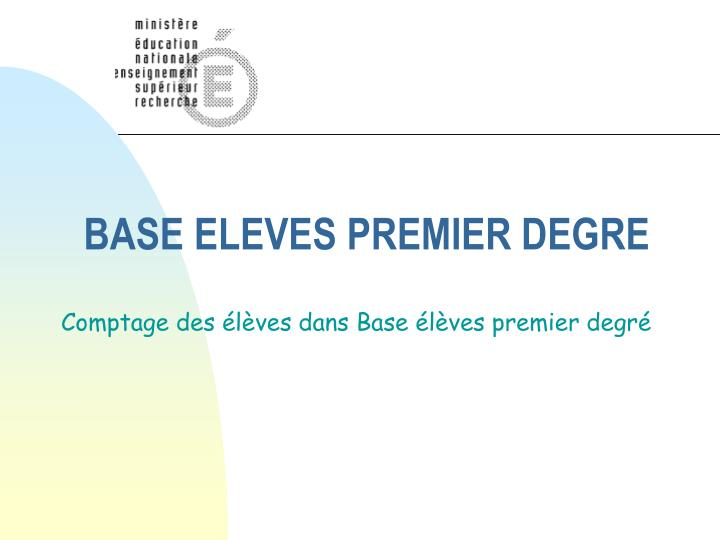 base eleves premier degre n.