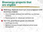 bioenergy projects that are eligible