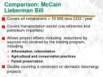 comparison mccain lieberman bill