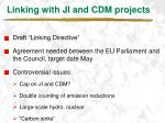 linking with ji and cdm projects