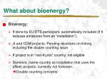 what about bioenergy