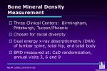 bone mineral density measurement