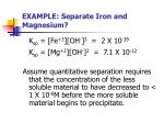 example separate iron and magnesium