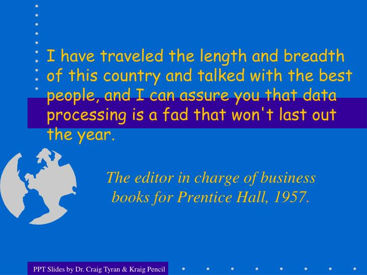 the editor in charge of business books for prentice hall 1957 n.