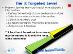 tier ii targeted level