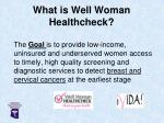 what is well woman healthcheck1