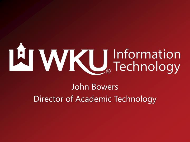 john bowers director of academic technology n.