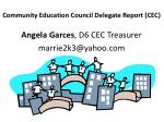 community education council delegate report cec