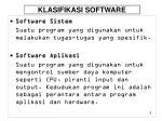 klasifikasi software