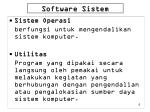 software sistem