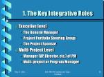 1 the key integrative roles