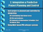 2 integrative predictive project planning and control