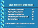 ceos greatest challenges