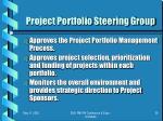 project portfolio steering group