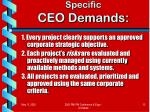 specific ceo demands1