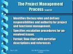 the project management process cont d
