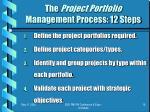 the project portfolio management process 12 steps