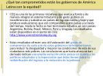 qu tan comprometidos est n los gobiernos de am rica latina con la equidad