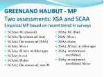 greenland halibut mp two assessments xsa and scaa empirical mp based on recent trend in surveys