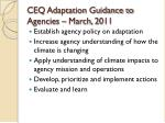 ceq adaptation guidance to agencies march 2011