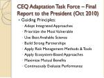 ceq adaptation task force final report to the president oct 2010