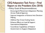 ceq adaptation task force final report to the president oct 20101