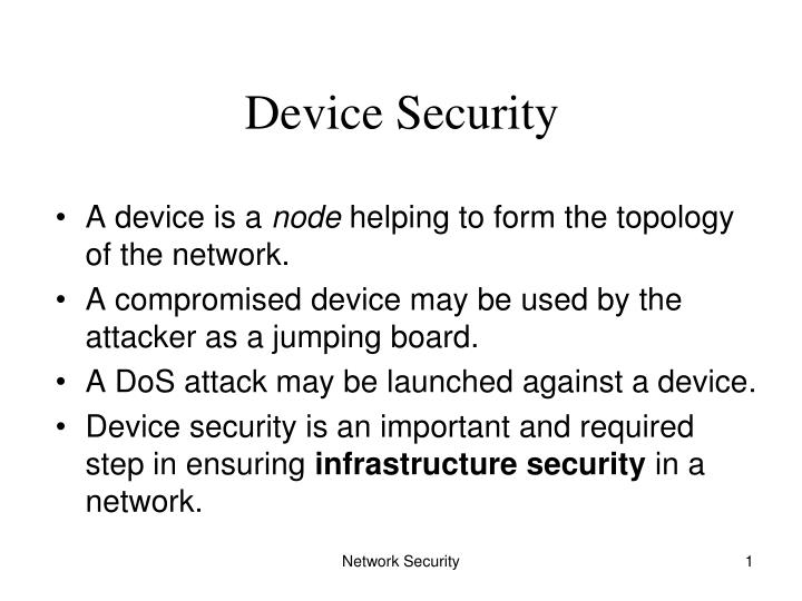 device security n.