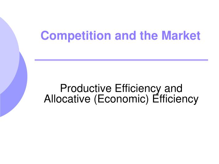 competition and the market n.