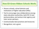 how ed green ribbon schools works