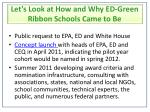 let s look at how and why ed green ribbon schools came to be