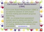 curriculum based measurement cbm